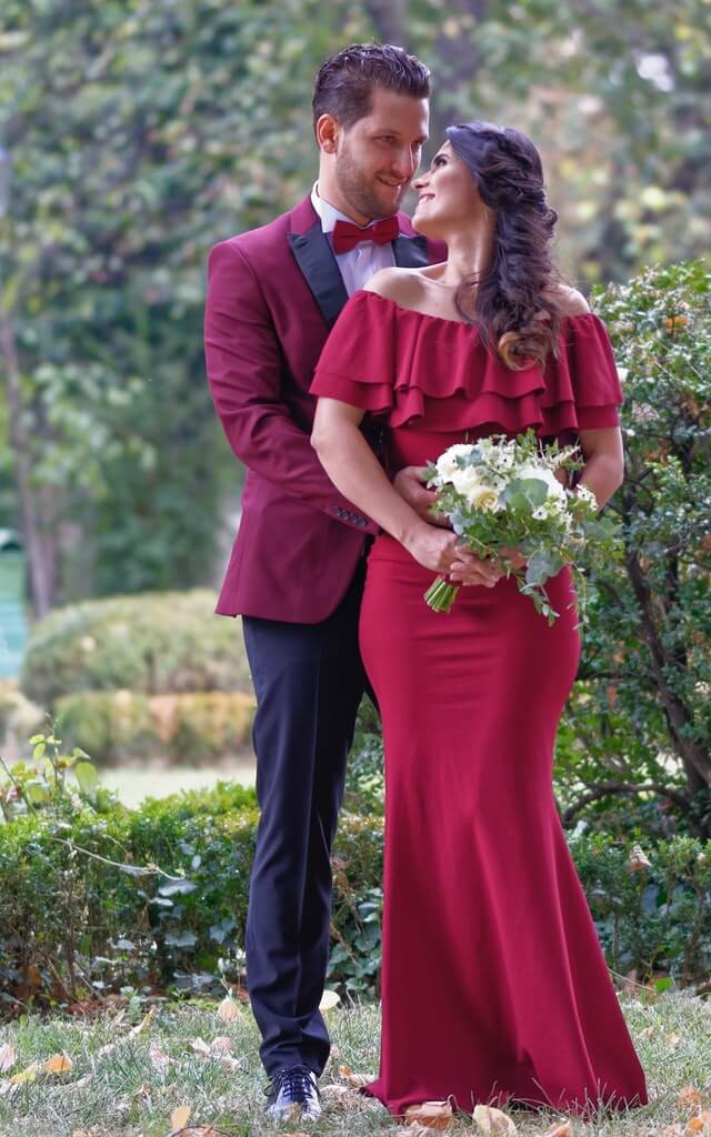 vestido pareja boda