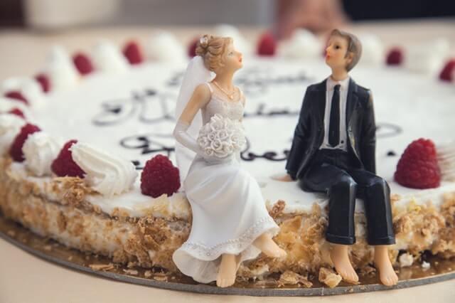 tarta de una boda
